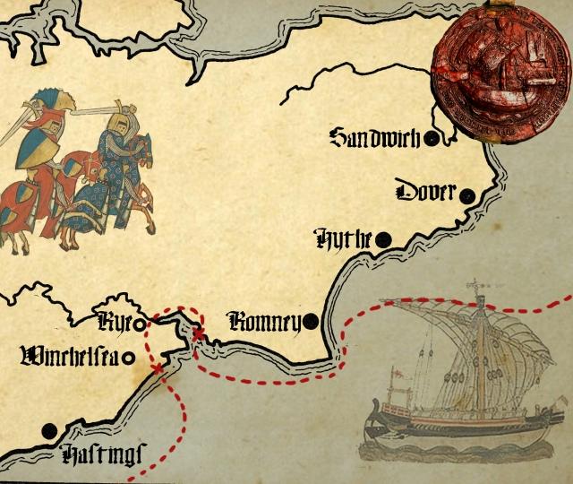 Cinque Ports Map